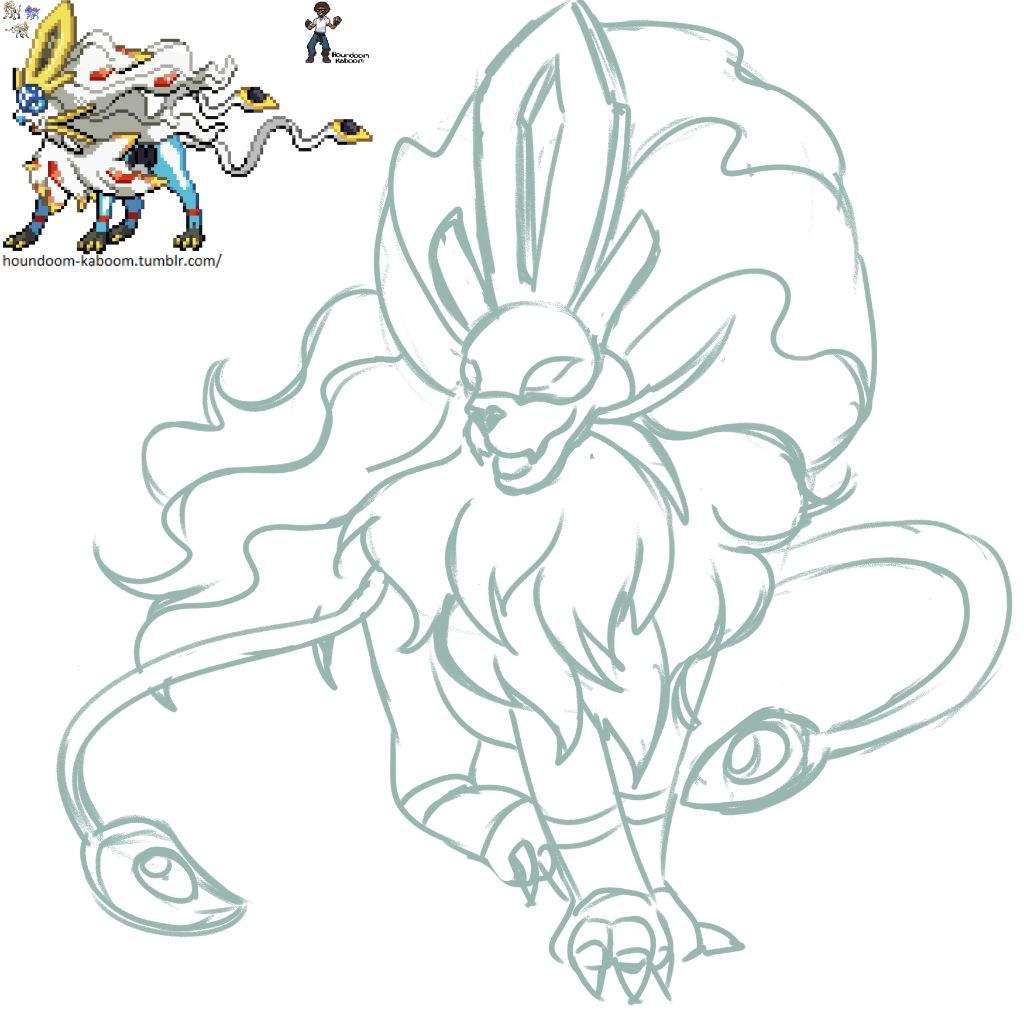 Pokemon Fusion - Suicune X Solgaleo [my Art]