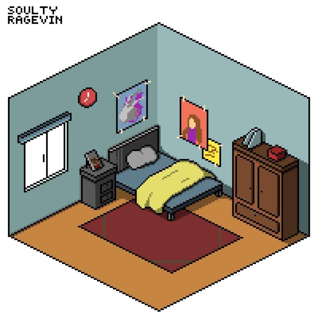 pixilart isometric room pixel art amino
