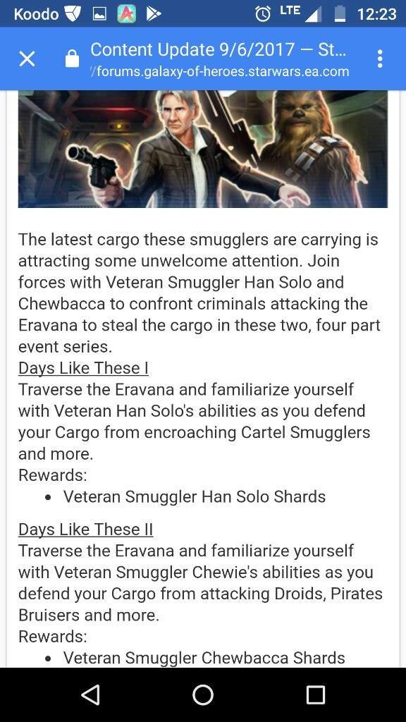 SWGOH - September events calendar | Star Wars Amino