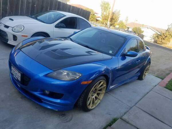 Me and my girlfriend's Mazda RX8 with a Corvette LS1