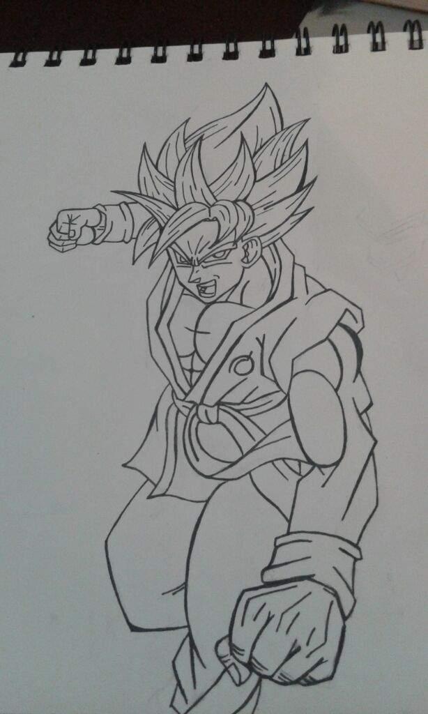 Goku Ssj Blue Kaiken Dibujos De Dragon Ball Amino