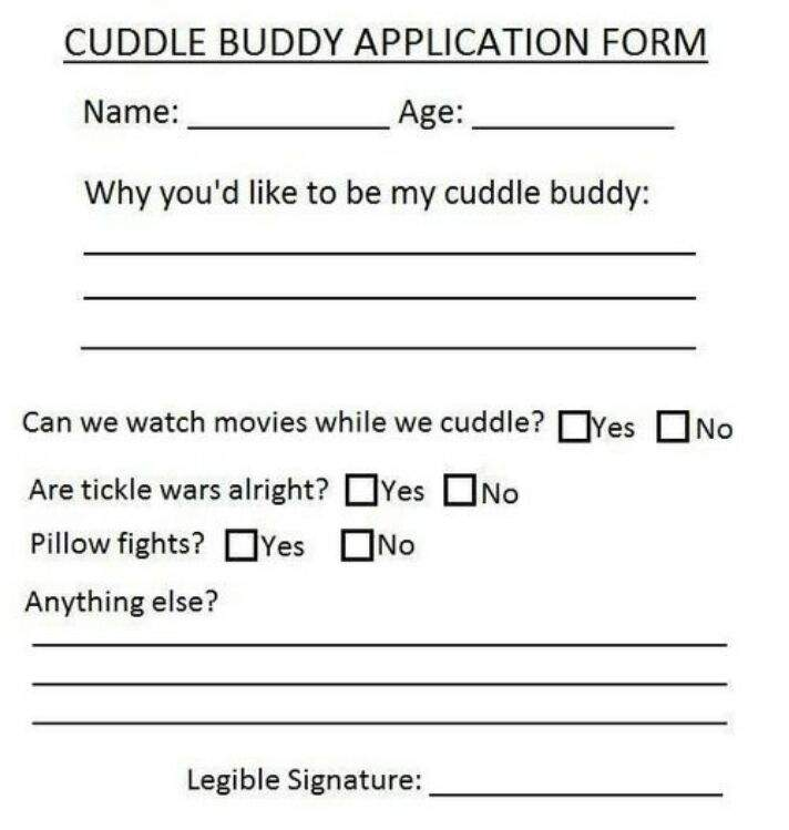 cuddle buddy applications  Cuddle Buddies Application Form | Kpop OTPs Amino