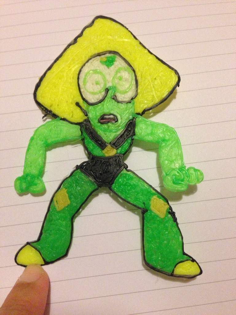 3d Pen Creations >> Peridot 3d Pen Creation Steven Universe Amino