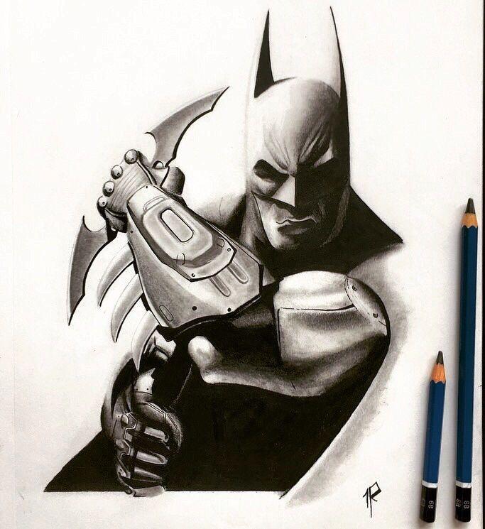 Batman Arkham City Con Lapiz De Grafito Que Opinan De Mi Dibujo