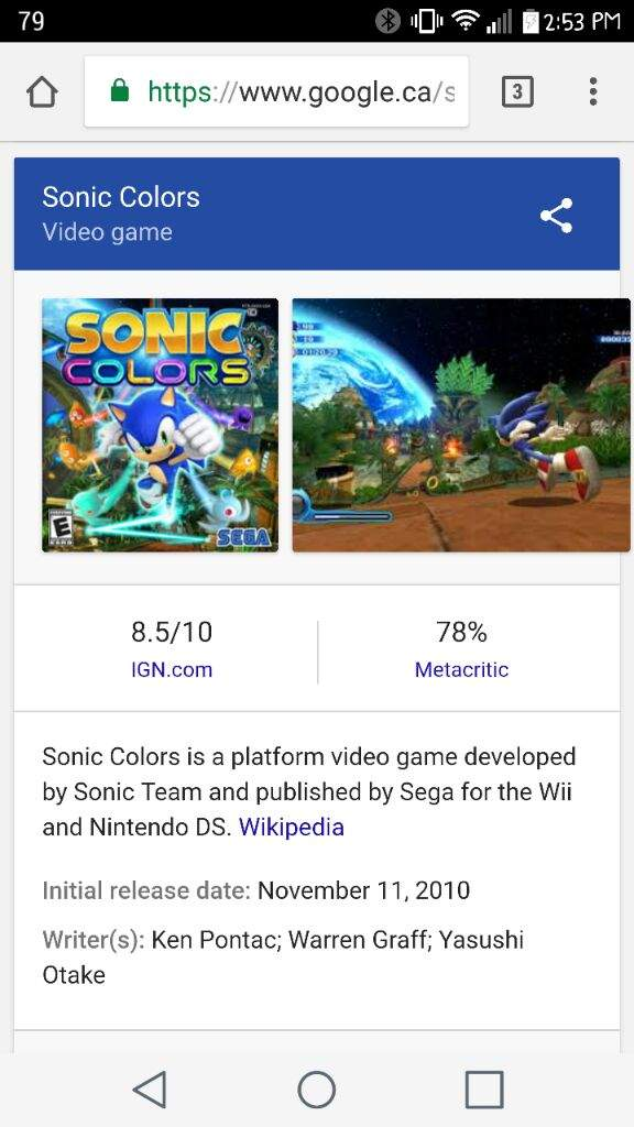 Sonic Colors | Sonic the Hedgehog! Amino