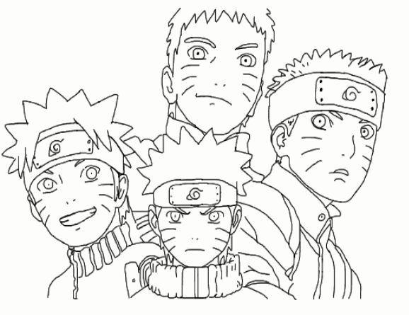 Dibujos De Kakashi Para Colorear: Lujoso Naruto Shippuden Minato Para Colorear Patrón