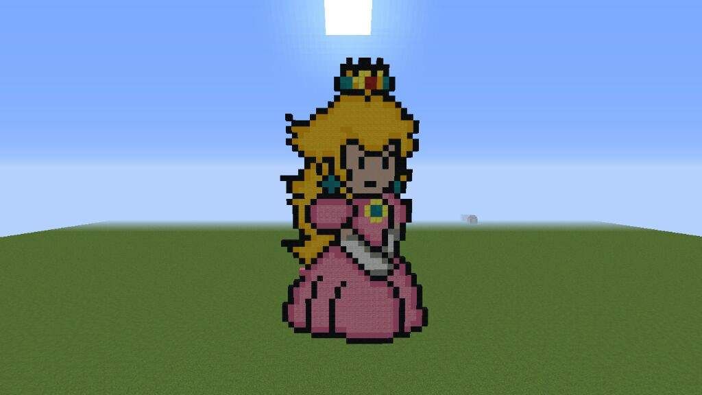 Princess Peach Pixel Art Paws 4 Minecraft Amino