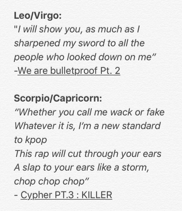 horoscope song lyrics