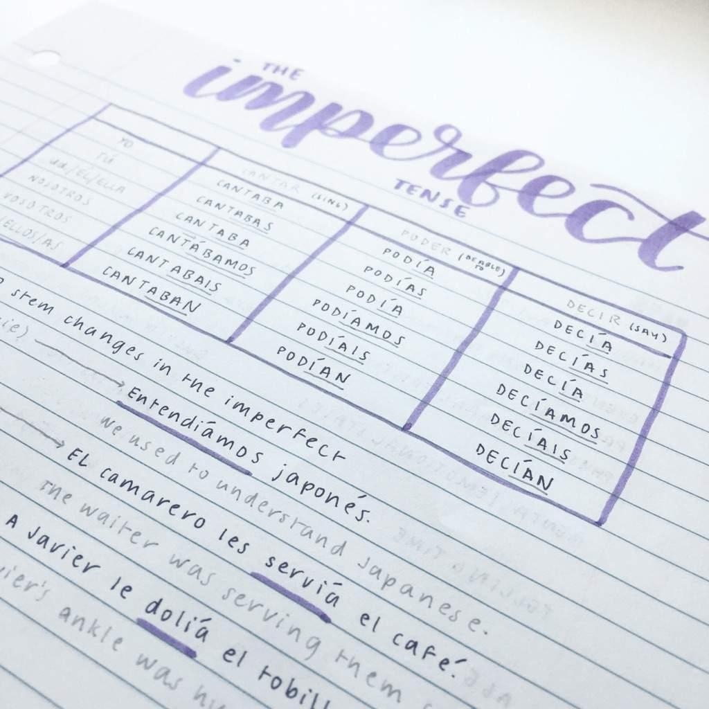 spanish notes! | Studying Amino Amino