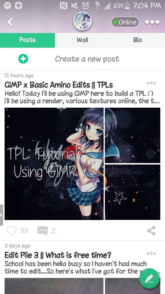GIMP x Basic Amino Edits    TPLs   Editing & Designing Amino