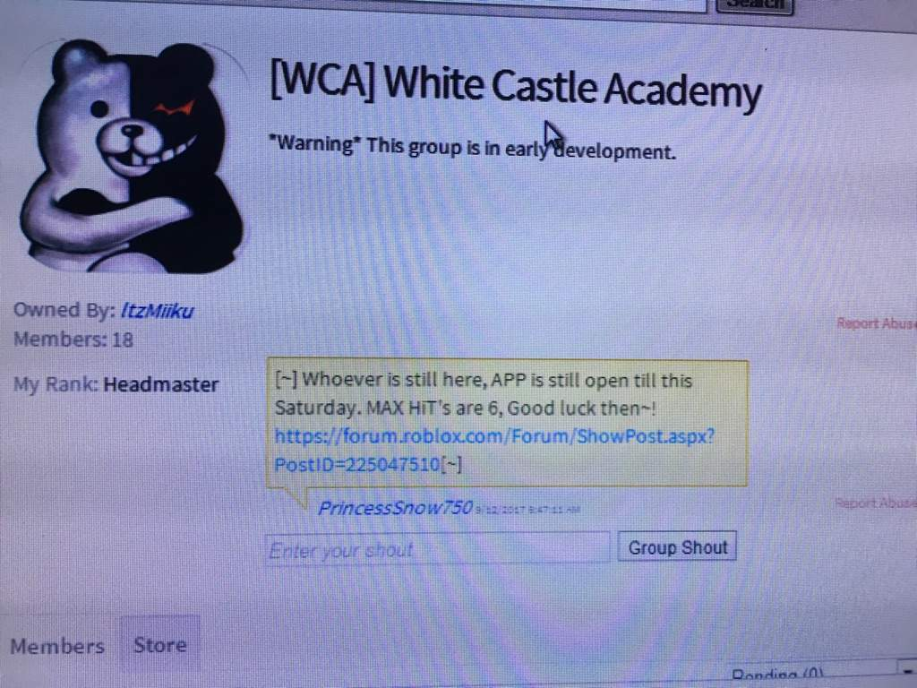 WCA ] White Castle Academy' Group | Roblox Amino