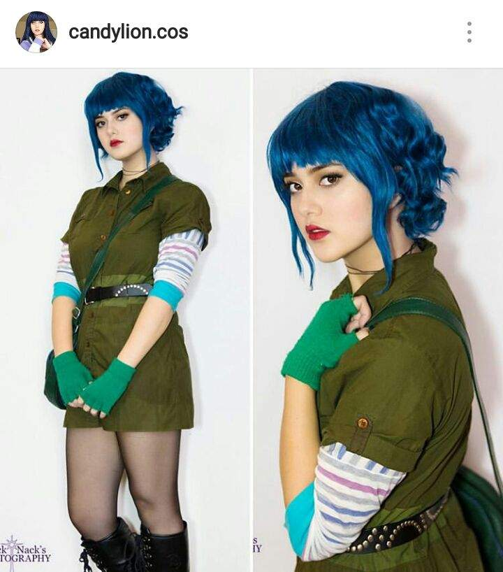 I did this for one of my favourite cosplayers Candylion.cos the character is Ramona flowers from the Scott Pilgrim graphic novels.