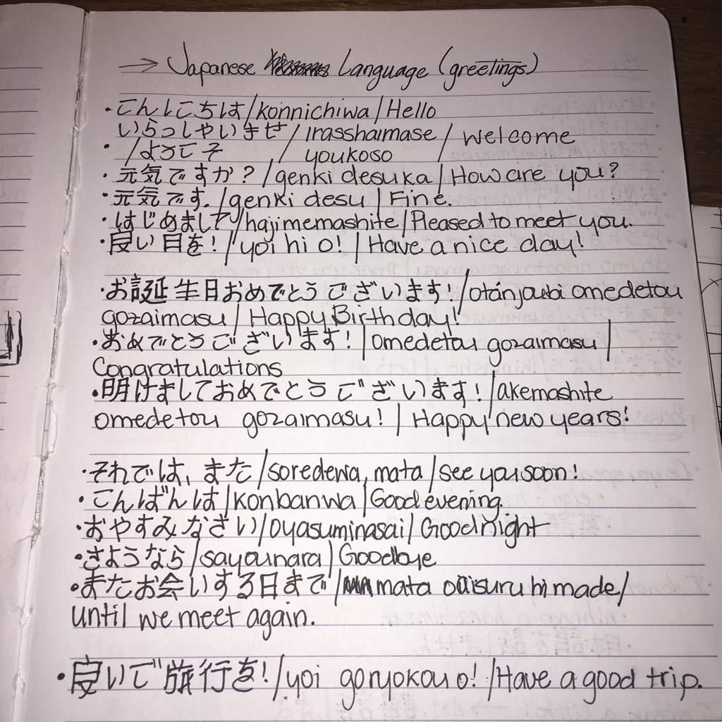 Ways To Organize Your Japanese Language Notebook 1 Japanese