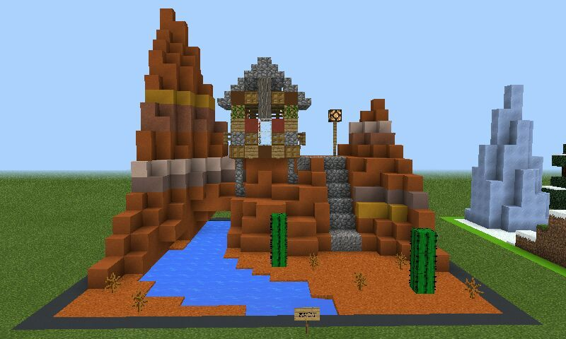 Mini Mesa Biome Build Minecraft Amino