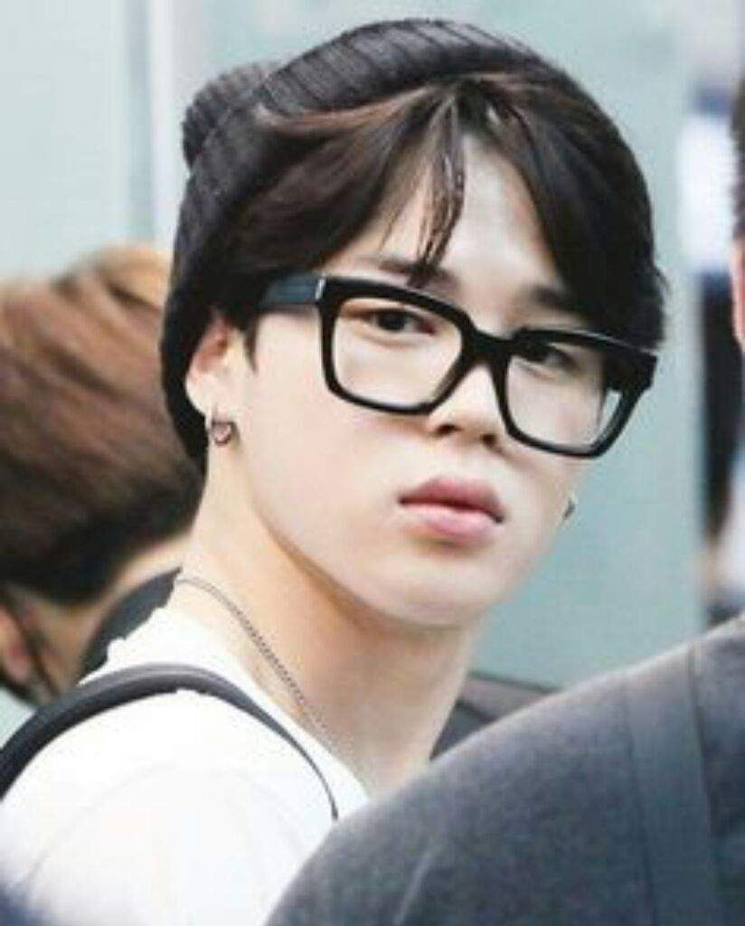 Here Is Today S Post With Jimin Wearing Glasses Army S Amino
