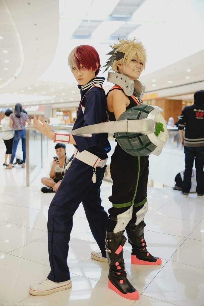 Bakugou Katsuki and Todoroki Shoto hero form | Cosplay Amino