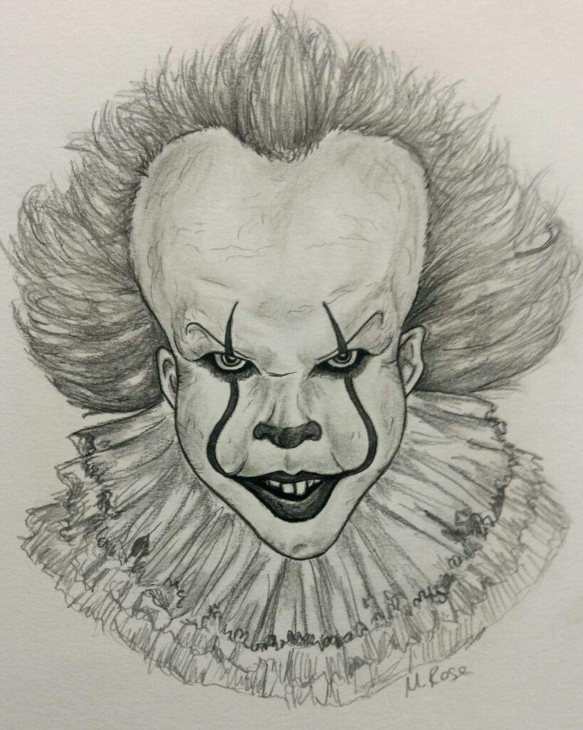 This is a photo of Delicate Cool Clown Drawing
