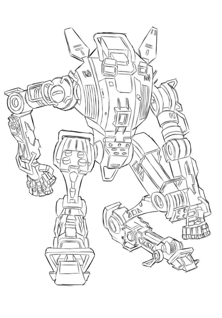 Робот титан картинки для раскрашивания эти сентябрьские