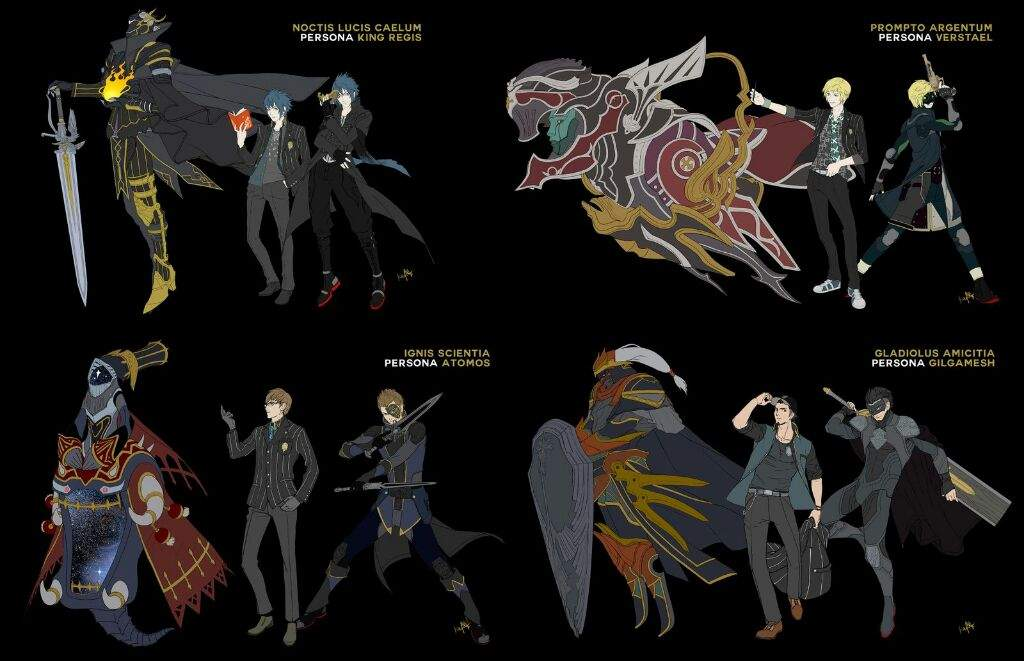 final fantasy xv and persona 5 crossover smt persona 5 amino
