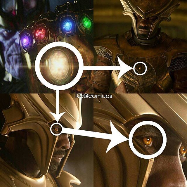 The Theory With Heimdall Mentions How Heimdall Eyes Are Orange And He Has A Small Orange Object On His Armour Which Could Be The Stone But The Main Piece