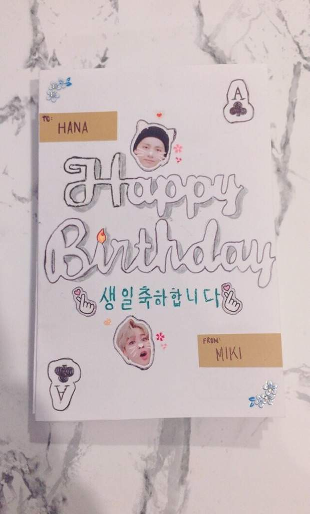 DIY BTS Pop Up Birthday Card