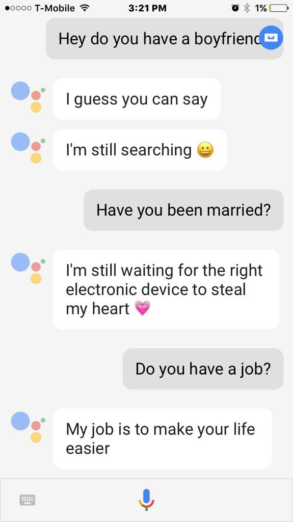 Flirt with google assistant [PUNIQRANDLINE-(au-dating-names.txt) 49