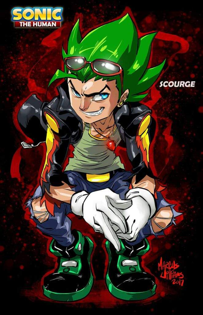 Scourge The Human Credit To Marcusthevisual Sonic The Hedgehog Amino