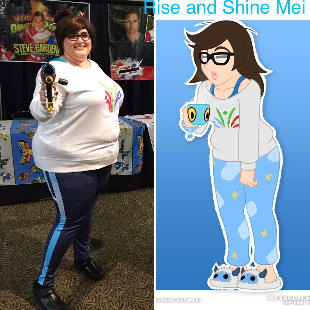 Mei rise and shine cosplay