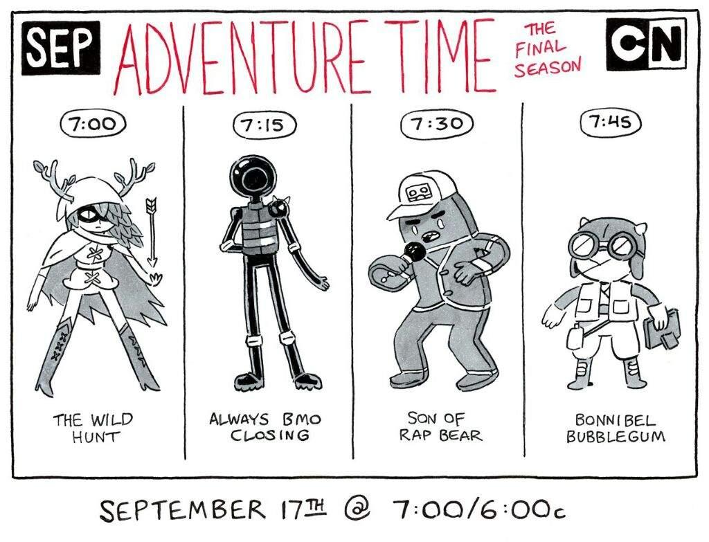 the 4 recent adventure time episodes cartoon amino