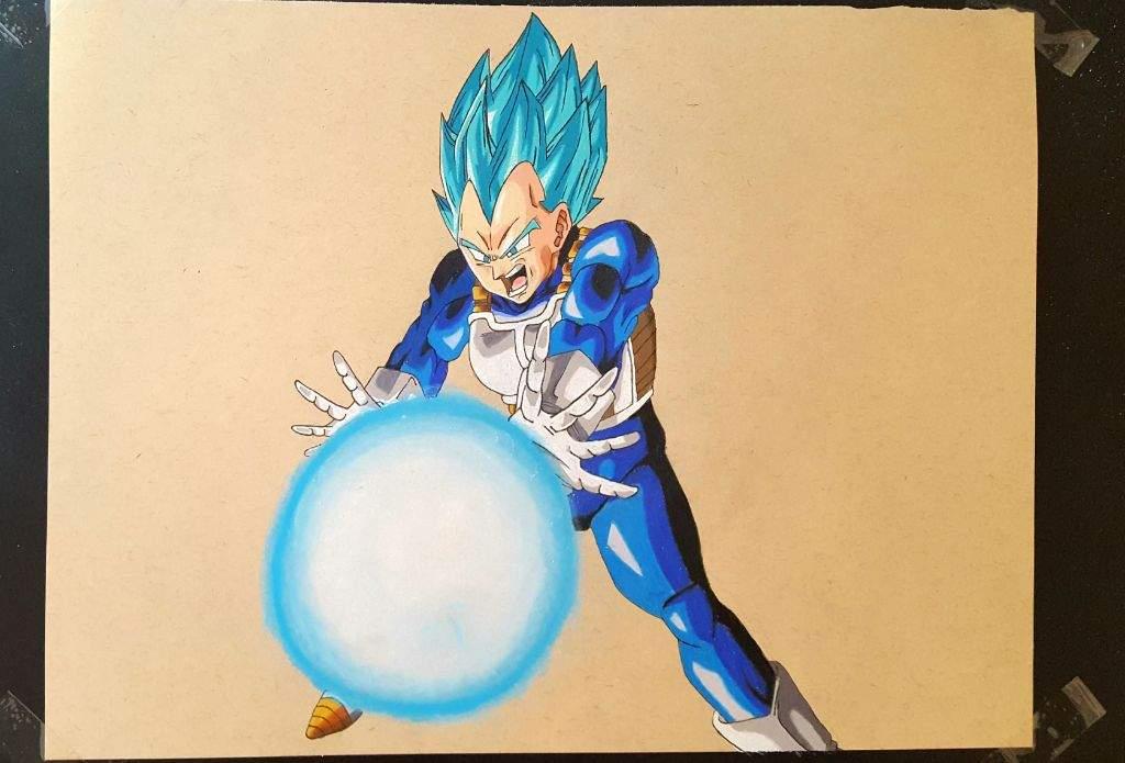 Fotos De Vegeta Color Azul: Dibujo De VEGETA SSJ DIOS AZUL
