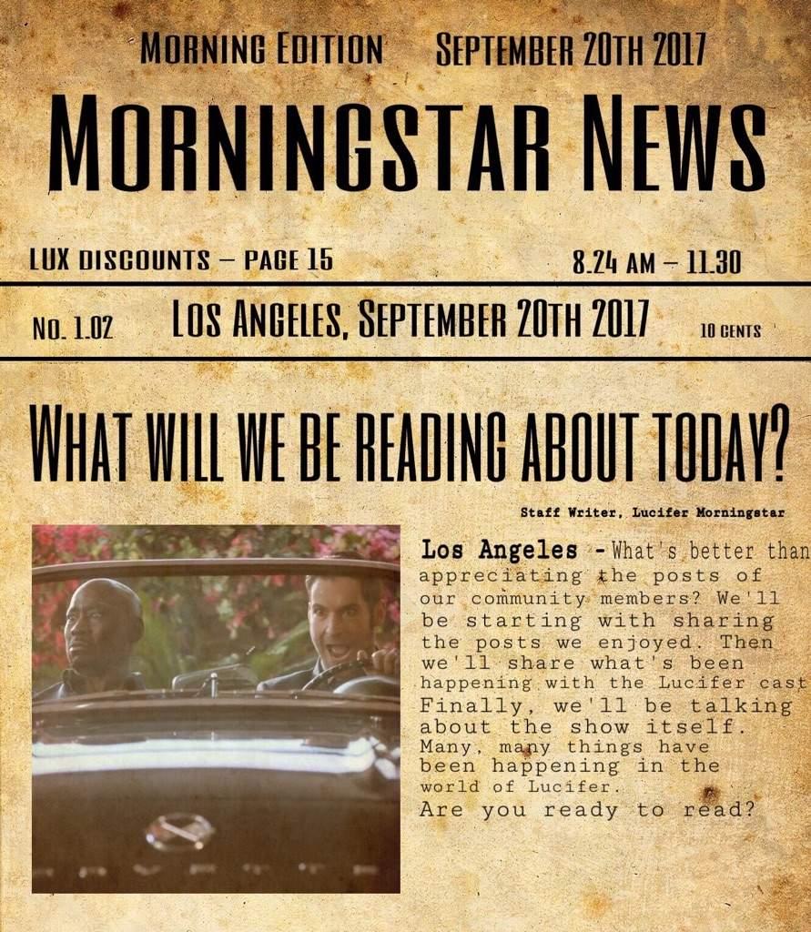 Lucifer Season 4 Spoilers Showrunner Reveals Tom Ellis: Morningstar News - 1.02