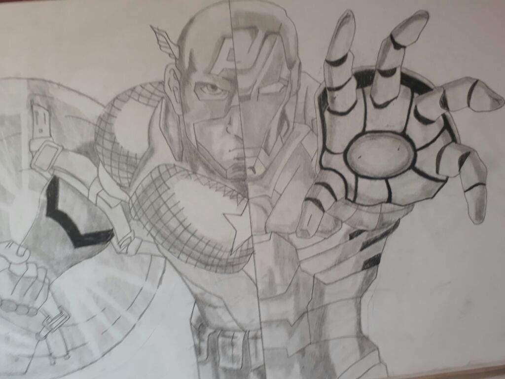 Iron Man Y Capitan America Dibujo A Lapiz Dibujarte Amino