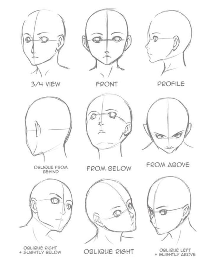 How To Draw Heads In Different Angles And Positions How To