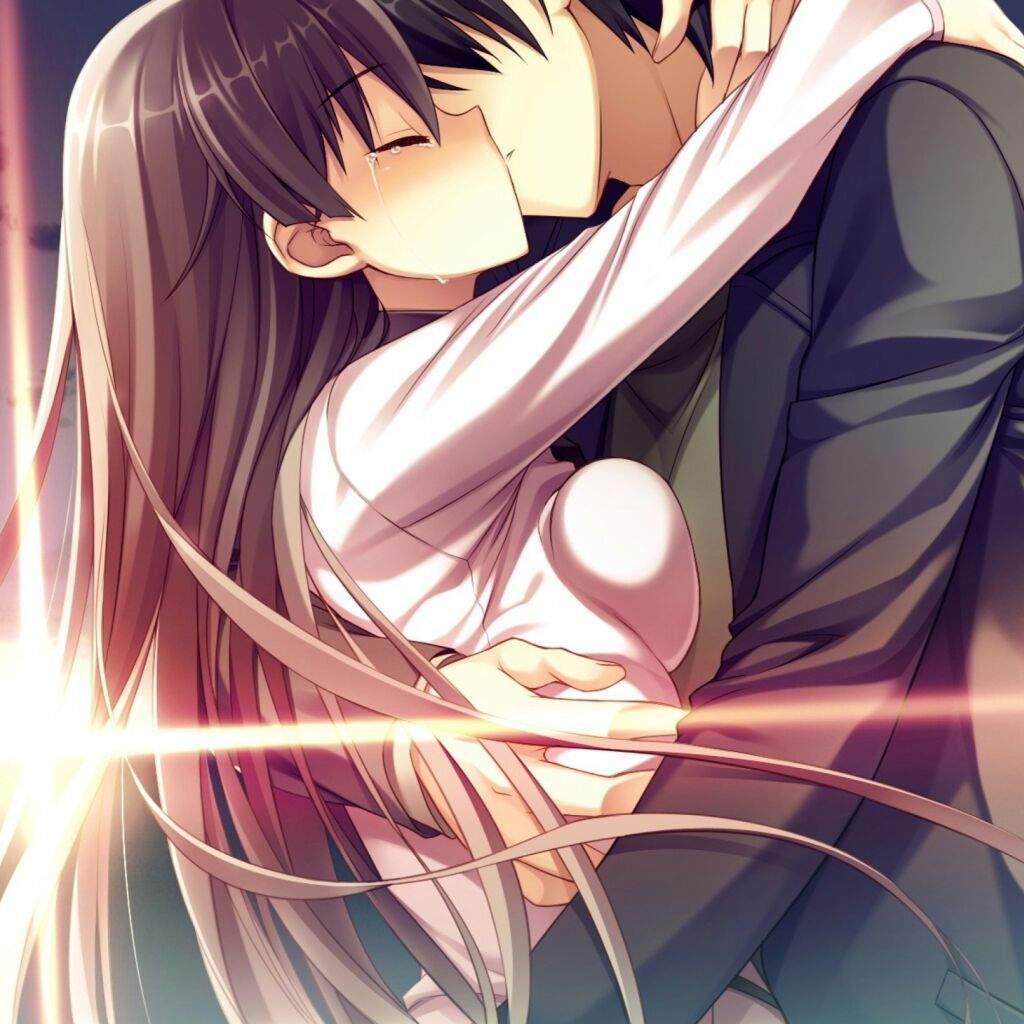 фото поцелуи аниме