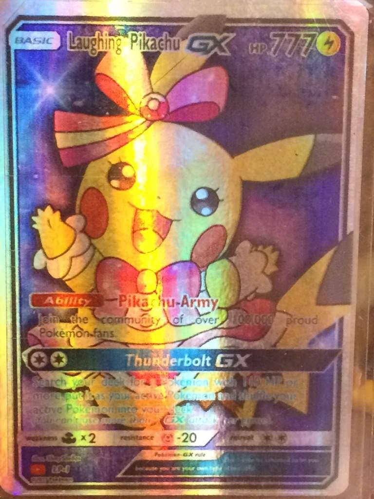 Laughing Pikachu Pokemon Card Pokémon Amino
