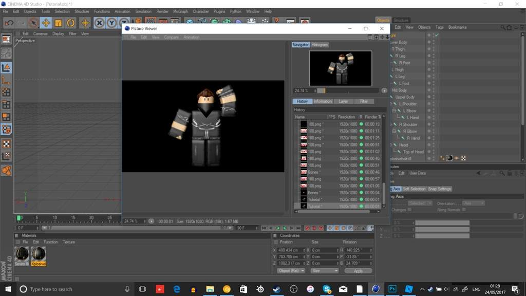 Bones Cinema 4d Roblox Download In Depth Gfx Tutorial Part 2 Roblox Amino
