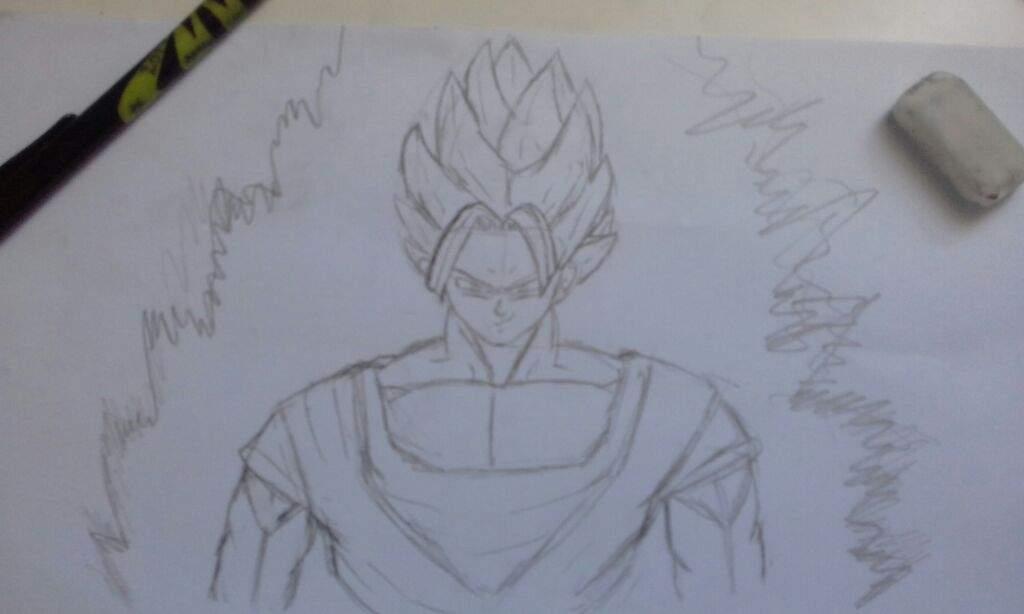 Drawing Goku Super Saiyan 2 Dragonballz Amino