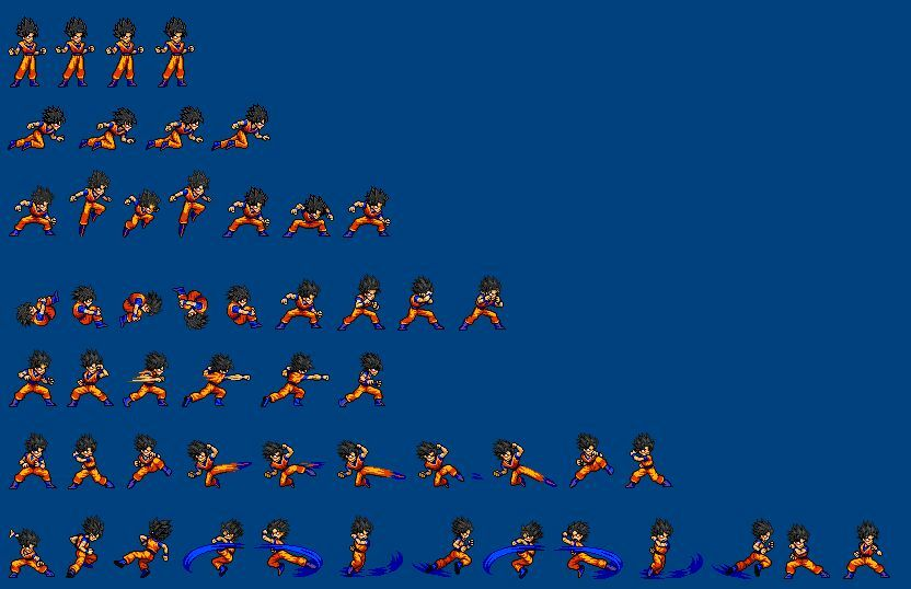 Super Saiyan 4 Goku Sprite Animation 20k Special Part 2