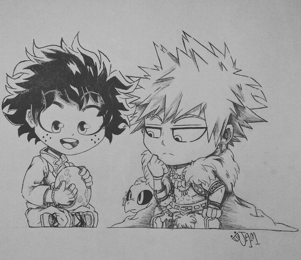 Bakugo And Deku Fantasy Au Chibi My Hero Academia Amino