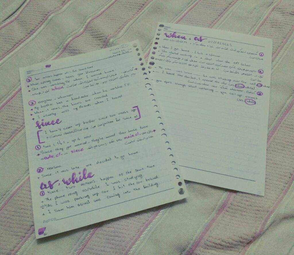 25/9/2017 School notes | Studying Amino Amino