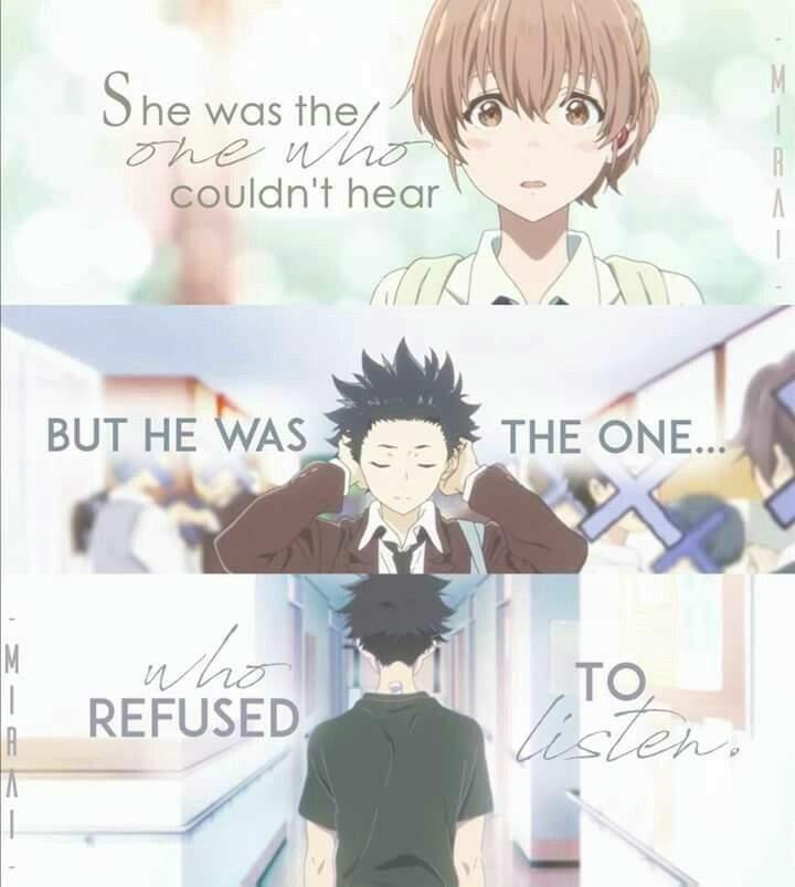 Koe No Katachi A Silent Voice Beautiful Quotes Anime Amino