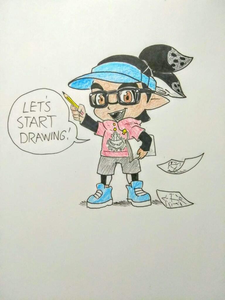 How To Draw Inkling Boy From Splatoon