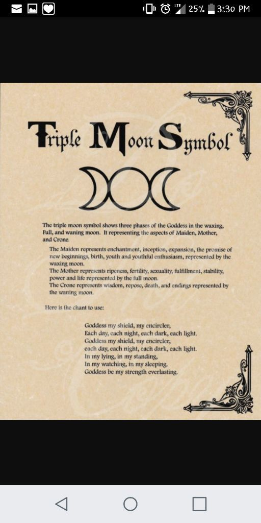 Triple Moon Symbol The Witches Circle Amino