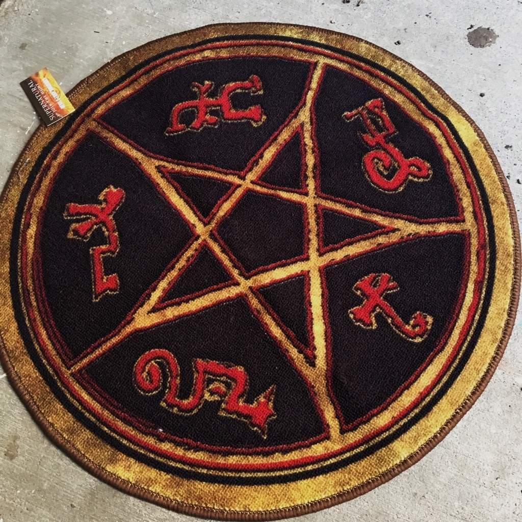 Devils Trap Doormat Supernatural Amino