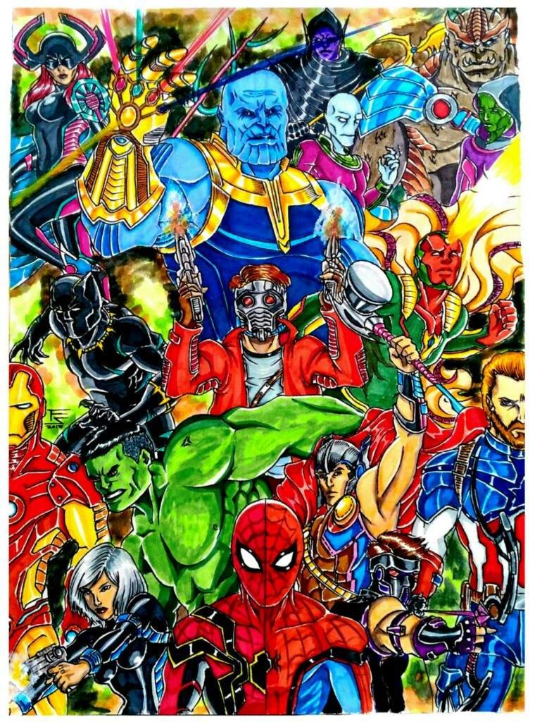 my 'avengers infinity war' artwork | comics amino