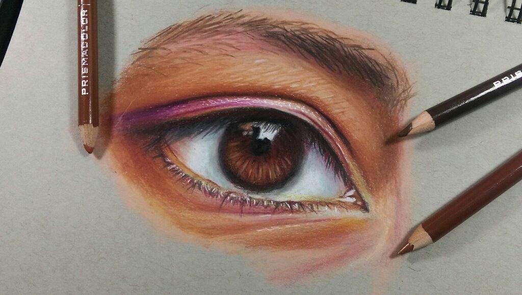 Ojo Realista Con Lapices De Colores Dibujarte Amino