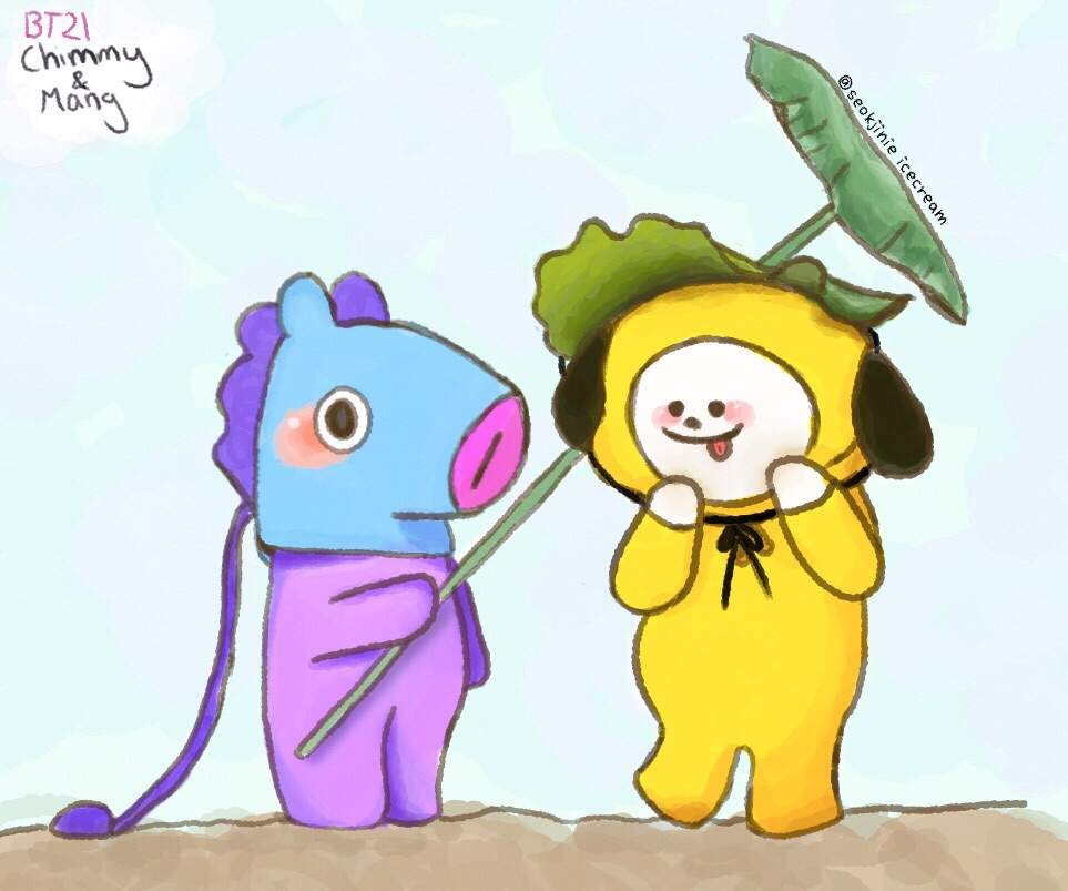 bt21 chimmy and mang army s amino