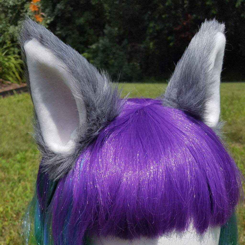 these fluffy grey ears are by far the most popular item i make every halloween this year is no exception