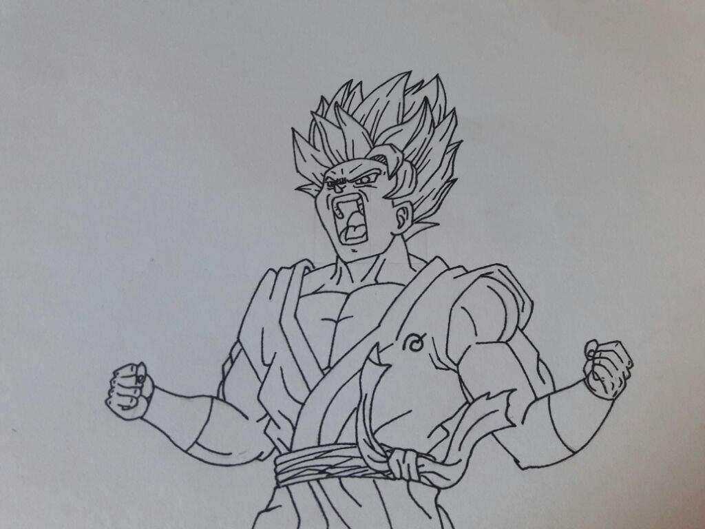 Goku Ssj Blue Kaioken X10 Para Colorear