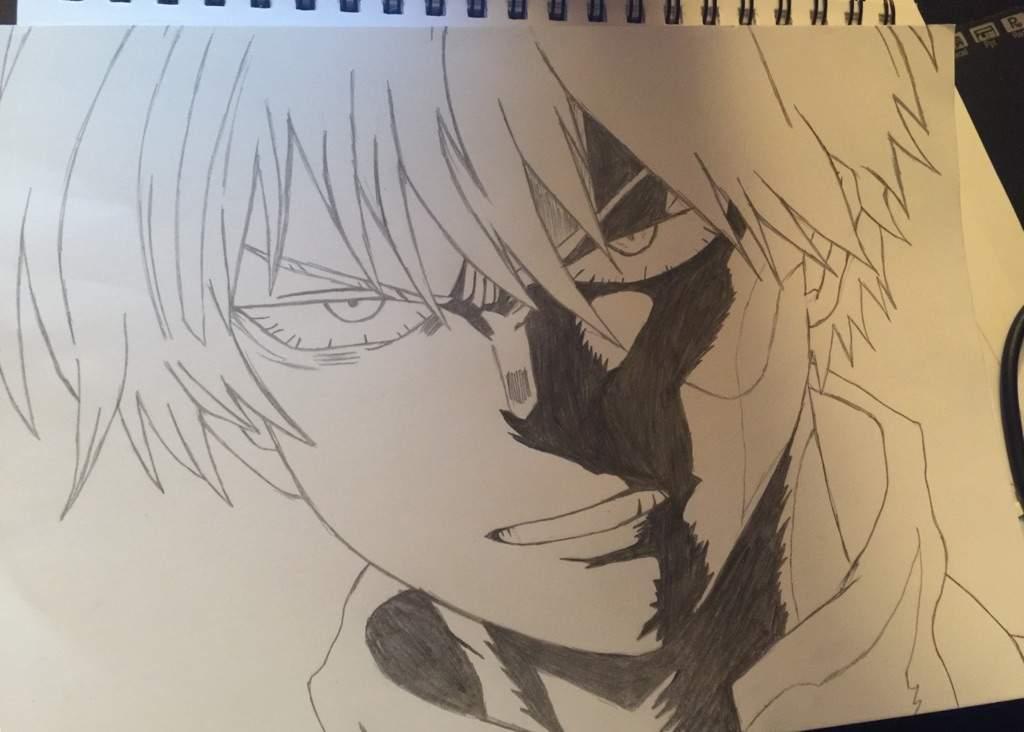 Shoto Todoroki Drawing Not Finish My Hero Academia